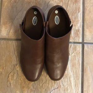 Dr Scholls brown booties size 10.